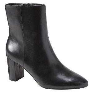 BANANA REPUBLIC | Block-Heel Ankle Boot/Blk Lthr/7